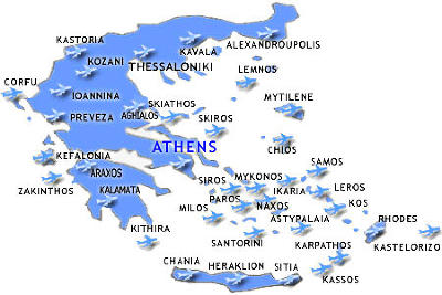 Foto Server by Carnaval.: Airports : Airports in Greece Map
