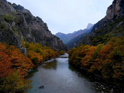 Vikos aoos national park aoos valley near konitsa displaying image 2