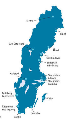 Foto Server By Carnavalcom Airports AirportsinSweden - Sweden map airports