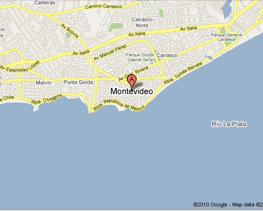Foto Server By Carnavalcom Maps And Guides MontevideoGoogleMap - Montevideo map
